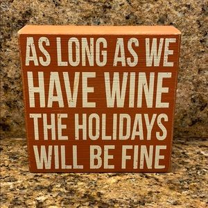 Holiday wine sign